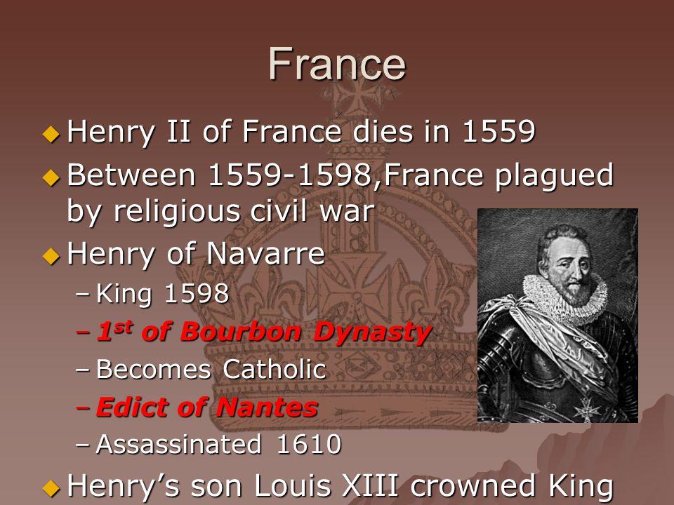France Henry II of France dies in 1559