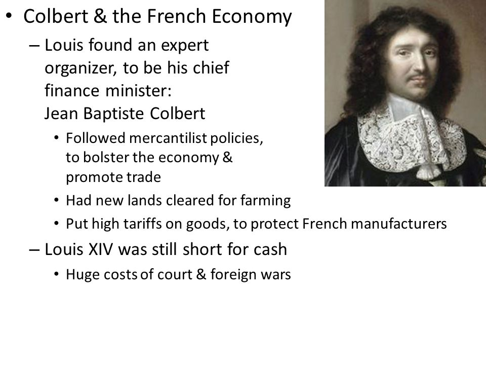 Colbert & the French Economy