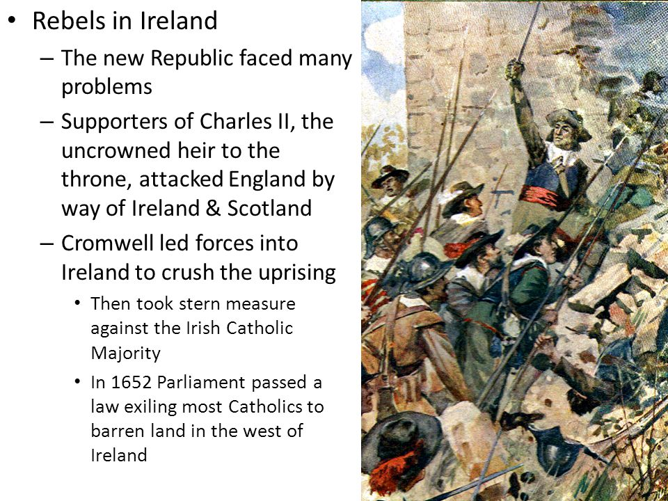 Rebels in Ireland The new Republic faced many problems