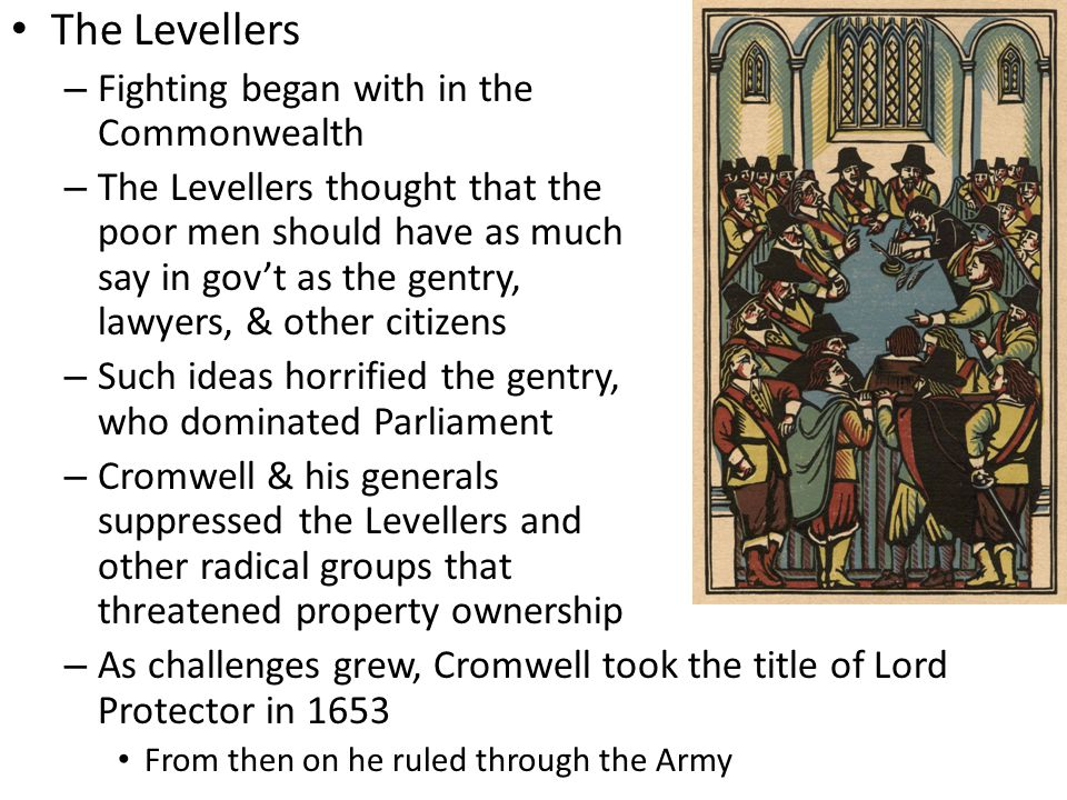 The Levellers Fighting began with in the Commonwealth