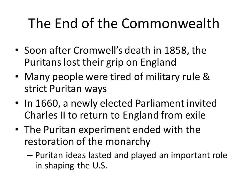 The End of the Commonwealth