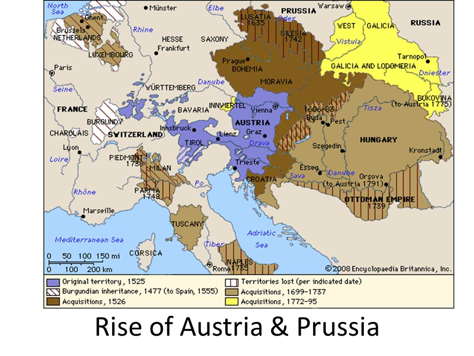 rise of austria and prussia Prussia: the rise of the german state one of the critical - prussia: the rise of the german state one of the critical themes in central european history is the rise of the state of prussia, and its role in the holy roman  | powerpoint ppt presentation | free to view.