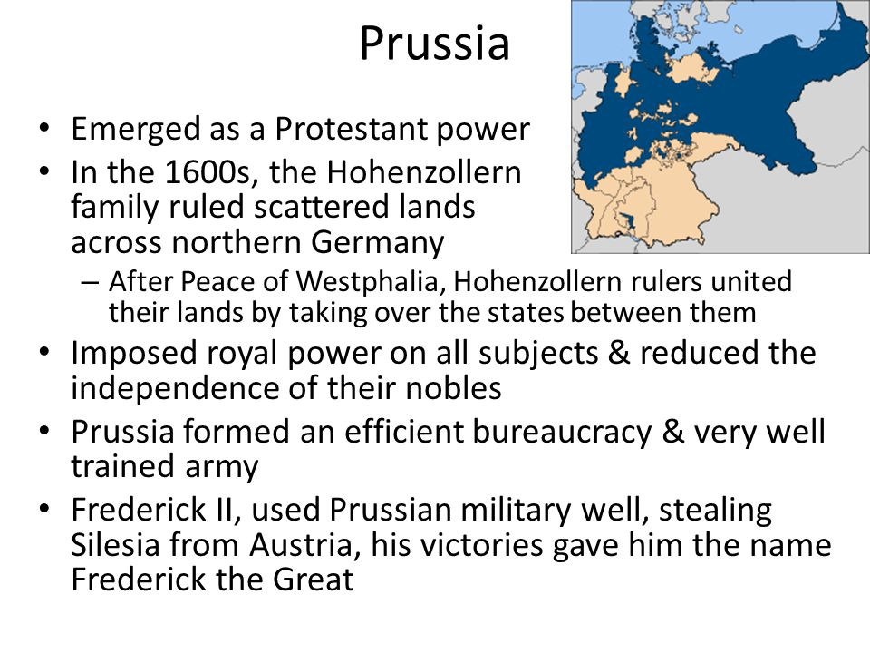 Prussia Emerged as a Protestant power