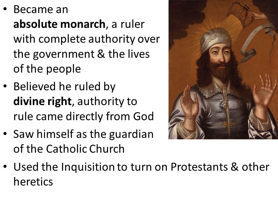 Became an absolute monarch, a ruler with complete authority over the government & the lives of the people