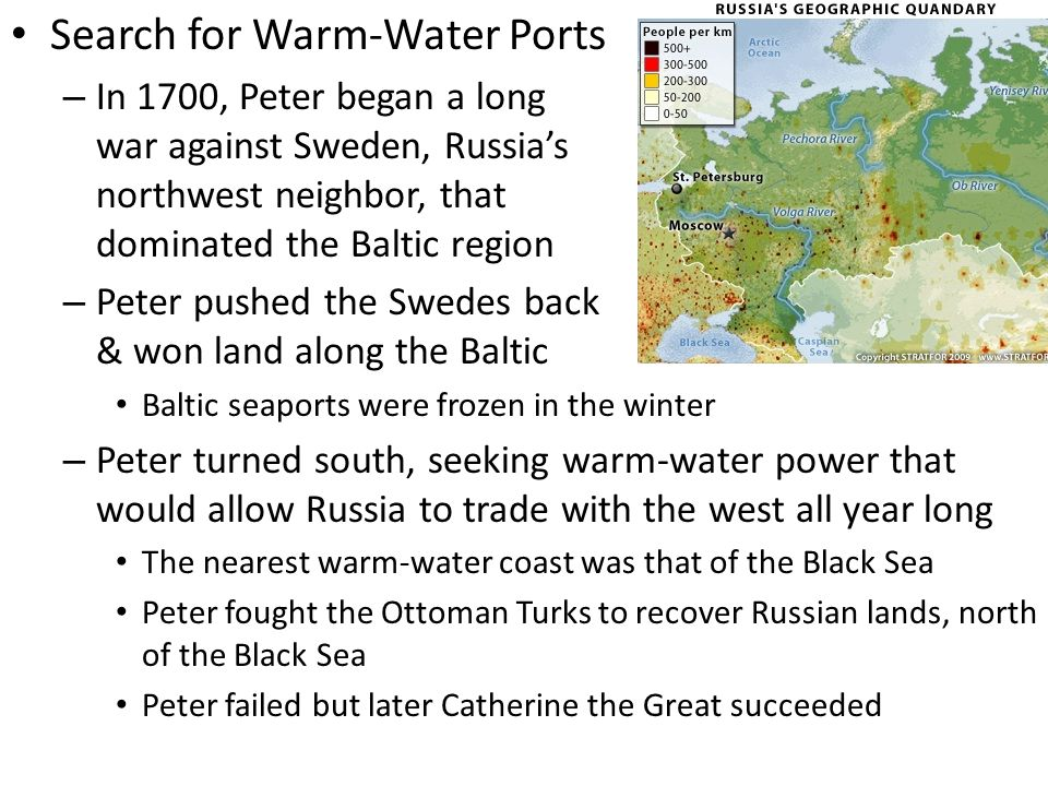 Search for Warm-Water Ports