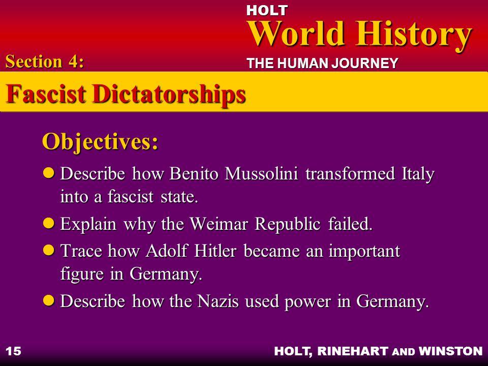 Fascist Dictatorships