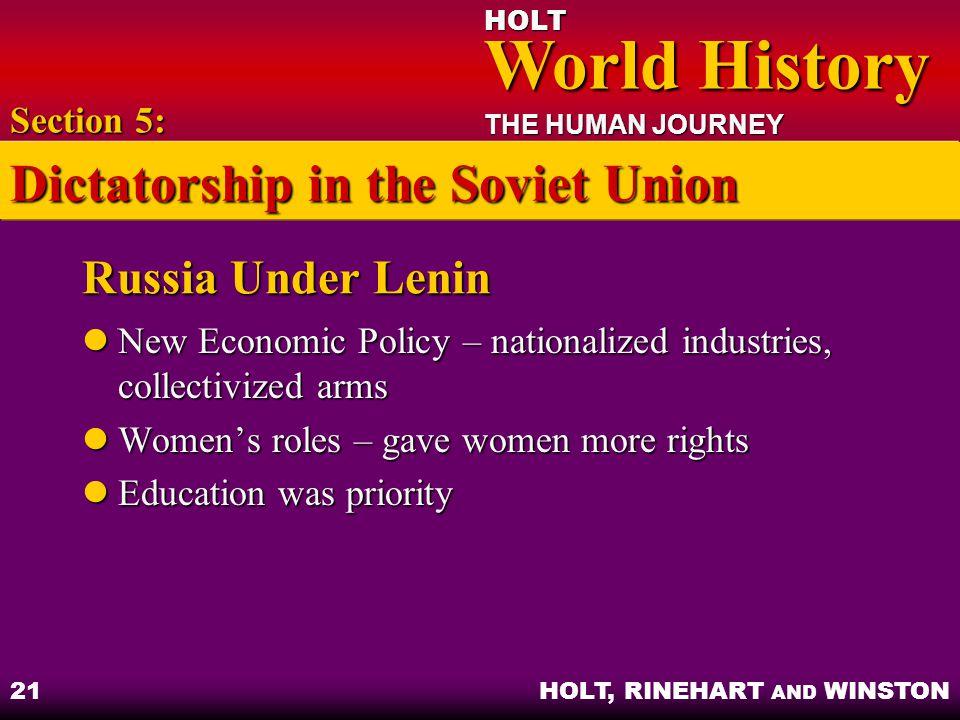 Dictatorship in the Soviet Union