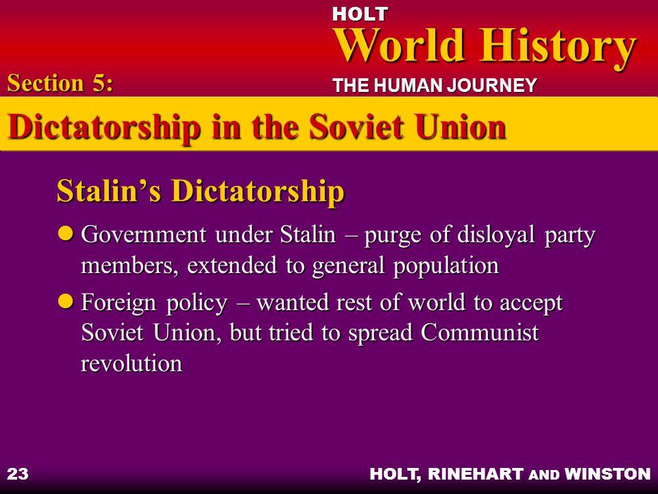 Stalin's Dictatorship