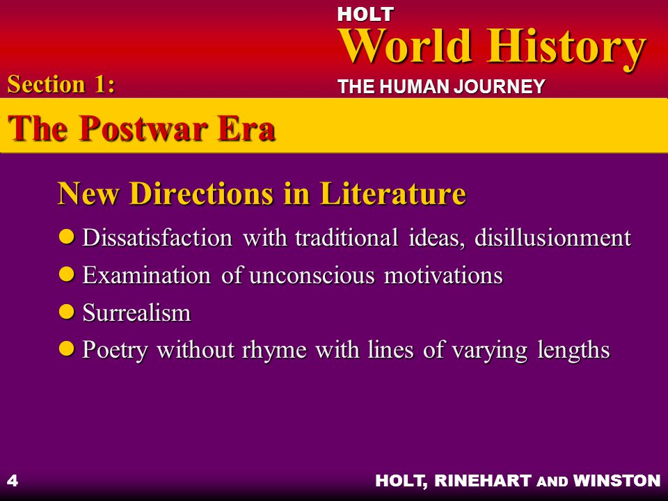 New Directions in Literature