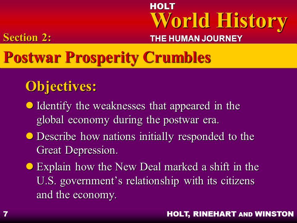 Postwar Prosperity Crumbles