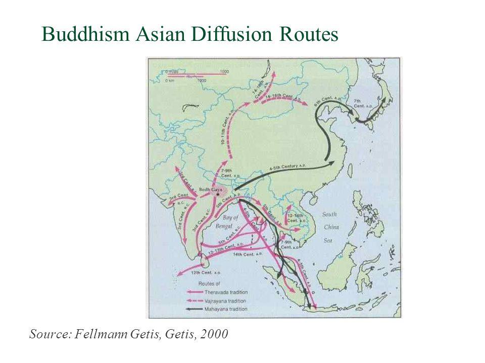 Buddhism Asian Diffusion Routes