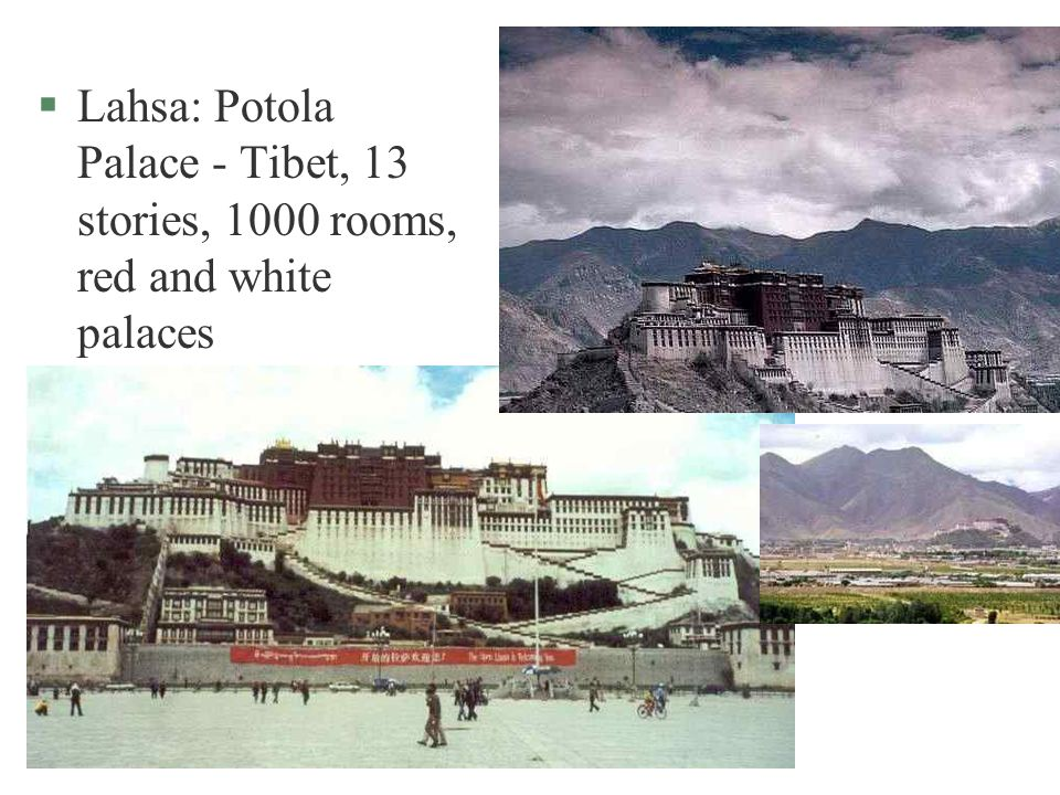 Lahsa: Potola Palace - Tibet, 13 stories, 1000 rooms, red and white palaces