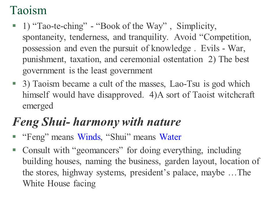 Feng Shui- harmony with nature