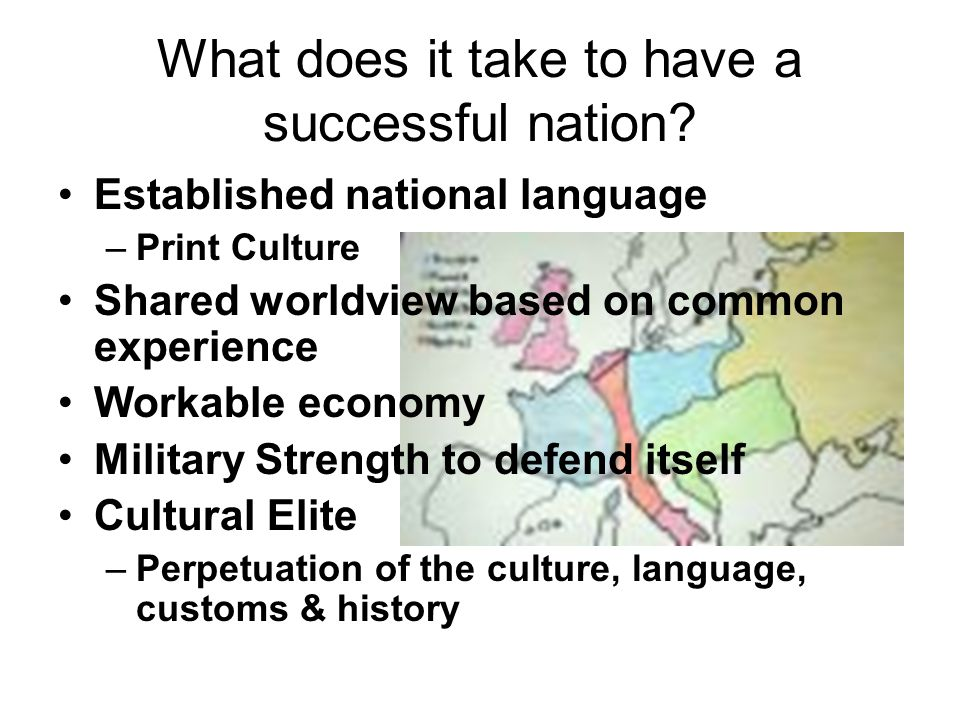 What does it take to have a successful nation