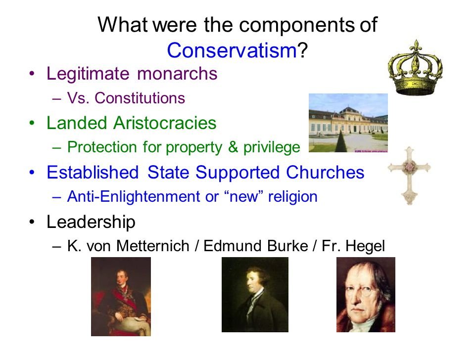 What were the components of Conservatism
