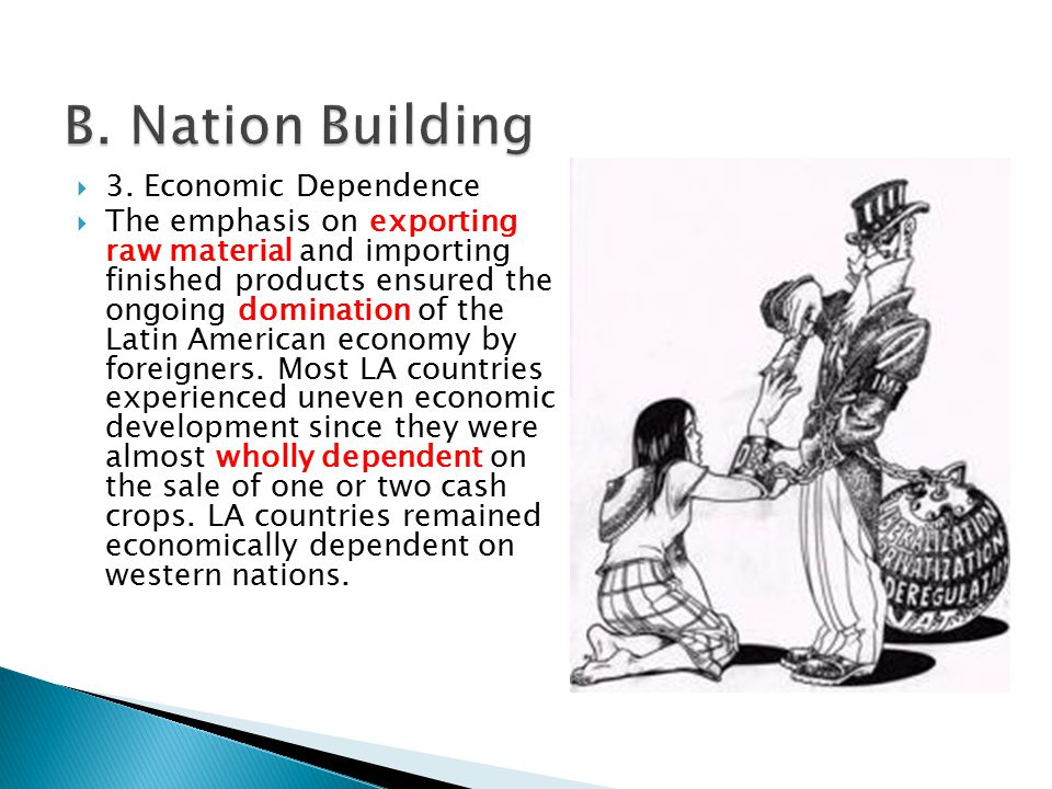 B. Nation Building 3. Economic Dependence