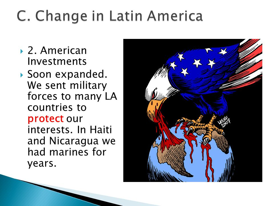 C. Change in Latin America