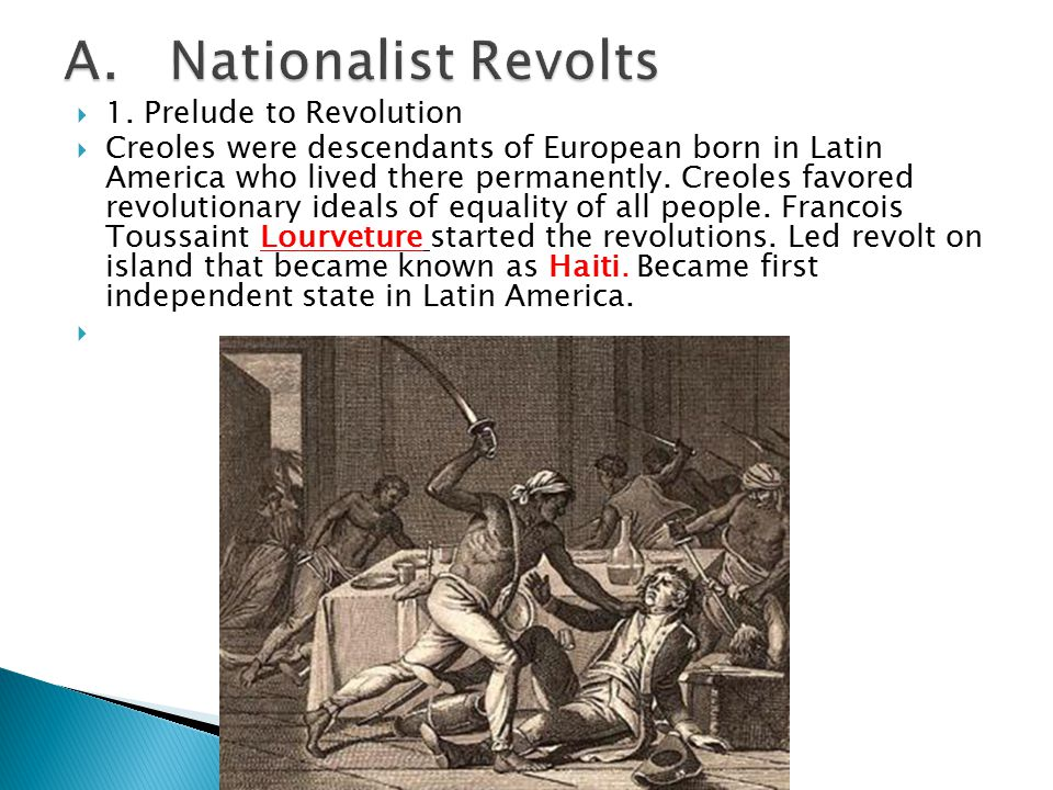 A. Nationalist Revolts 1. Prelude to Revolution