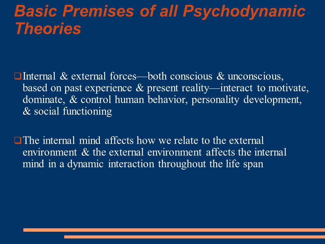 Basic Premises of all Psychodynamic Theories