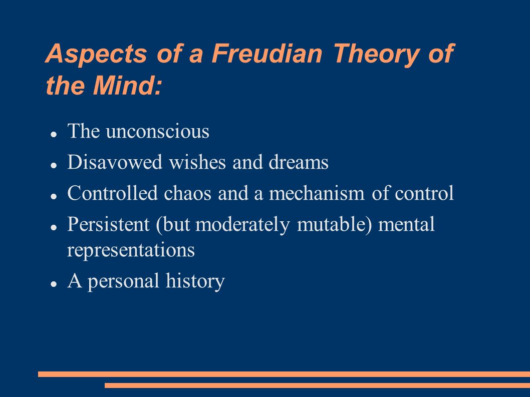 Aspects of a Freudian Theory of the Mind: