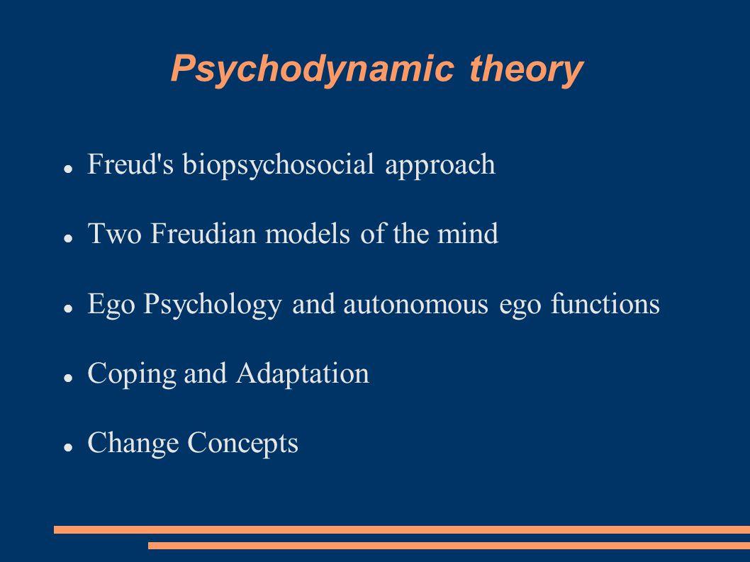 Psychodynamic theory Freud s biopsychosocial approach