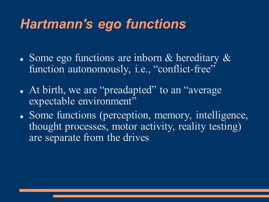 Hartmann s ego functions