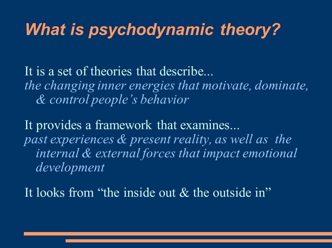 What is psychodynamic theory