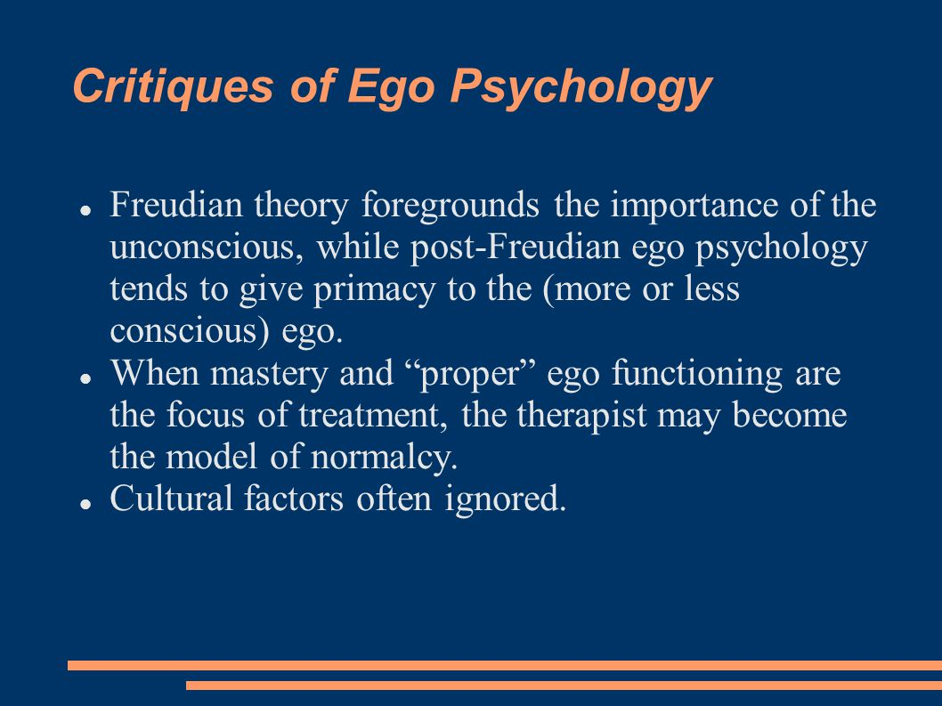 Critiques of Ego Psychology
