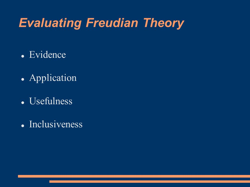 Evaluating Freudian Theory