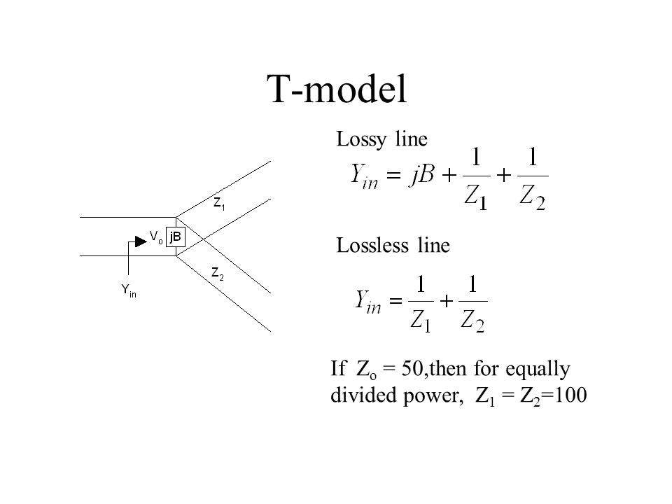 T-model Lossy line Lossless line