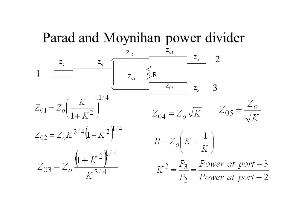 Parad and Moynihan power divider