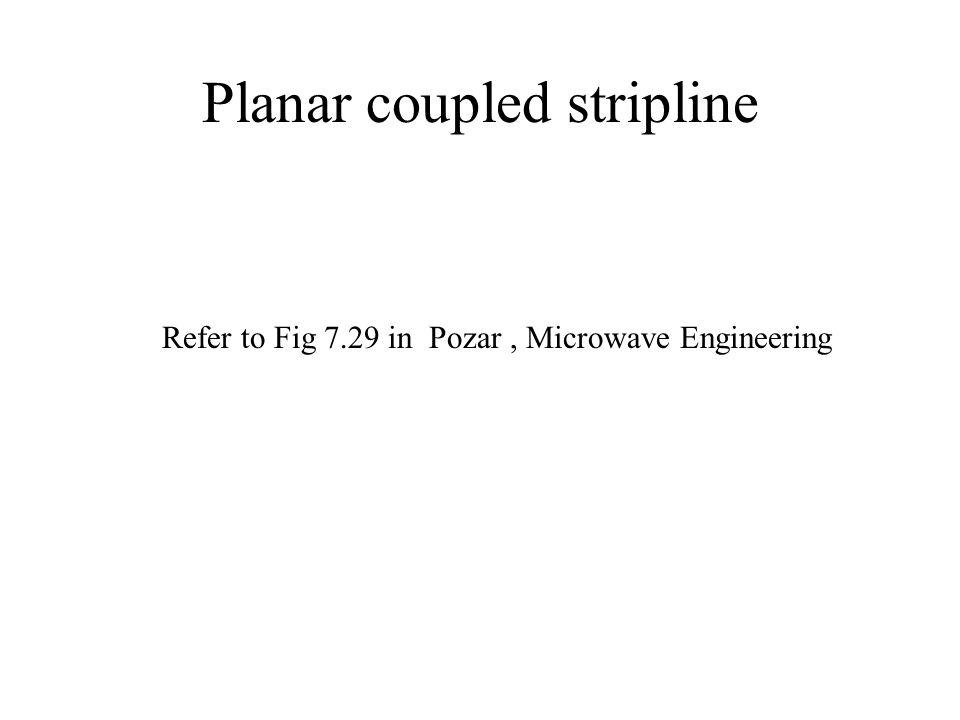Planar coupled stripline