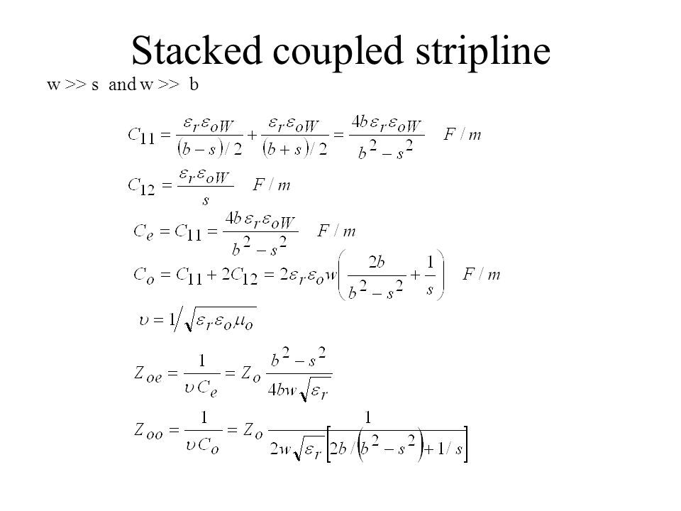 Stacked coupled stripline