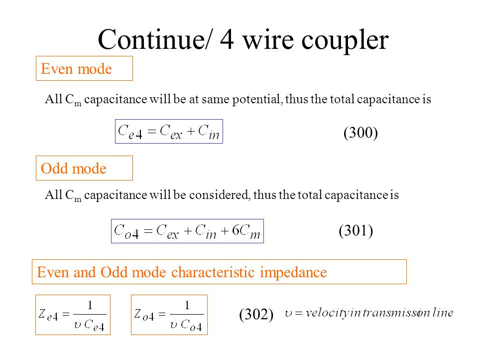Continue/ 4 wire coupler