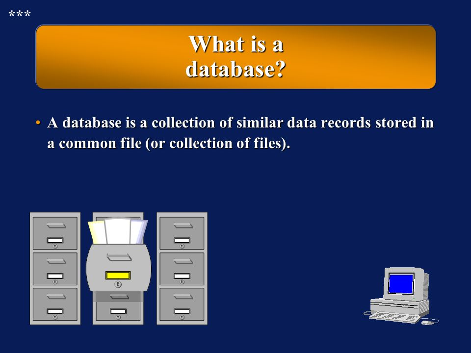 *** What is a database.