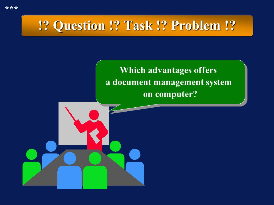 Which advantages offers a document management system on computer