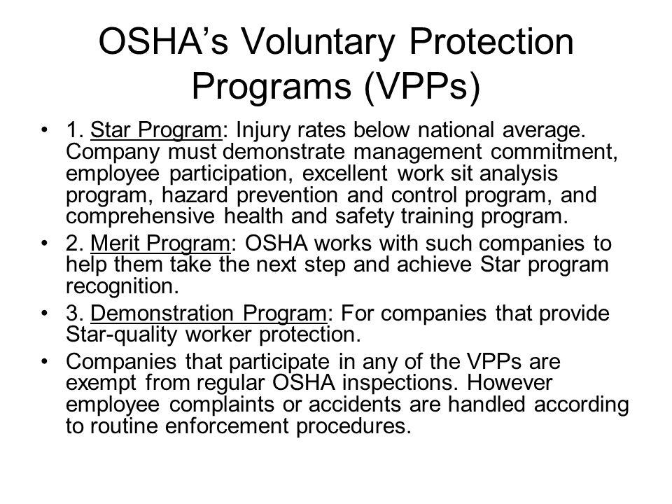 OSHA's Voluntary Protection Programs (VPPs)
