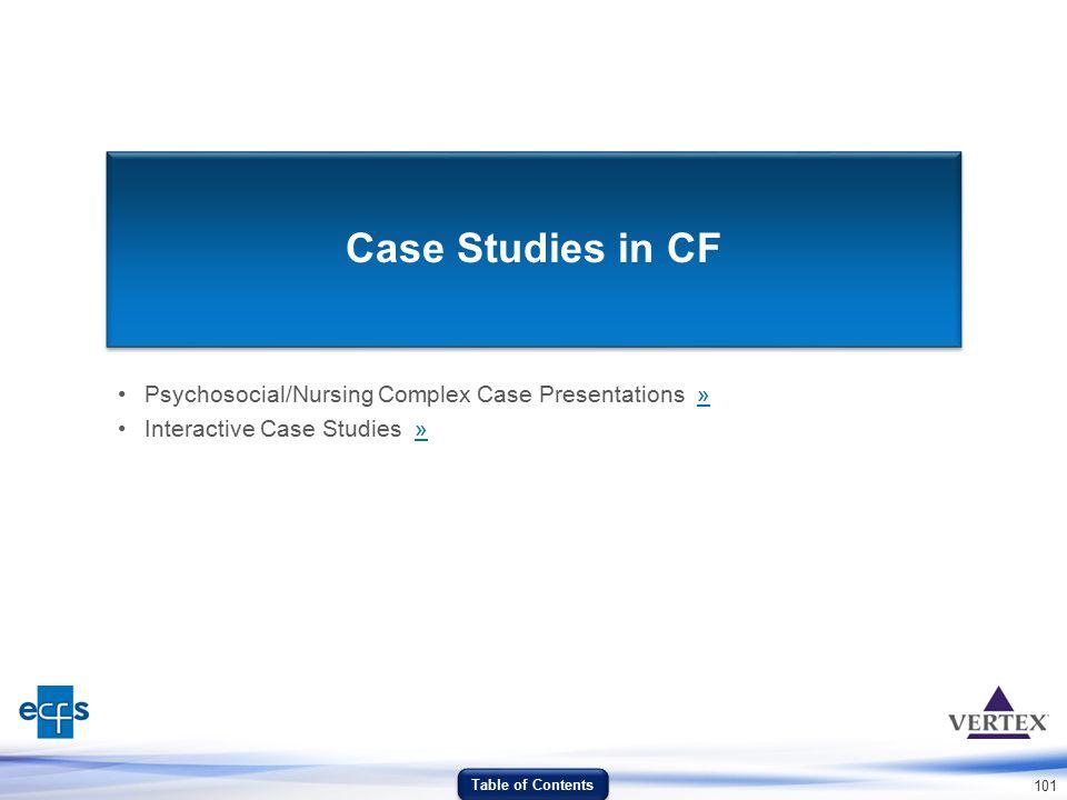 Case Studies in CF Psychosocial/Nursing Complex Case Presentations »
