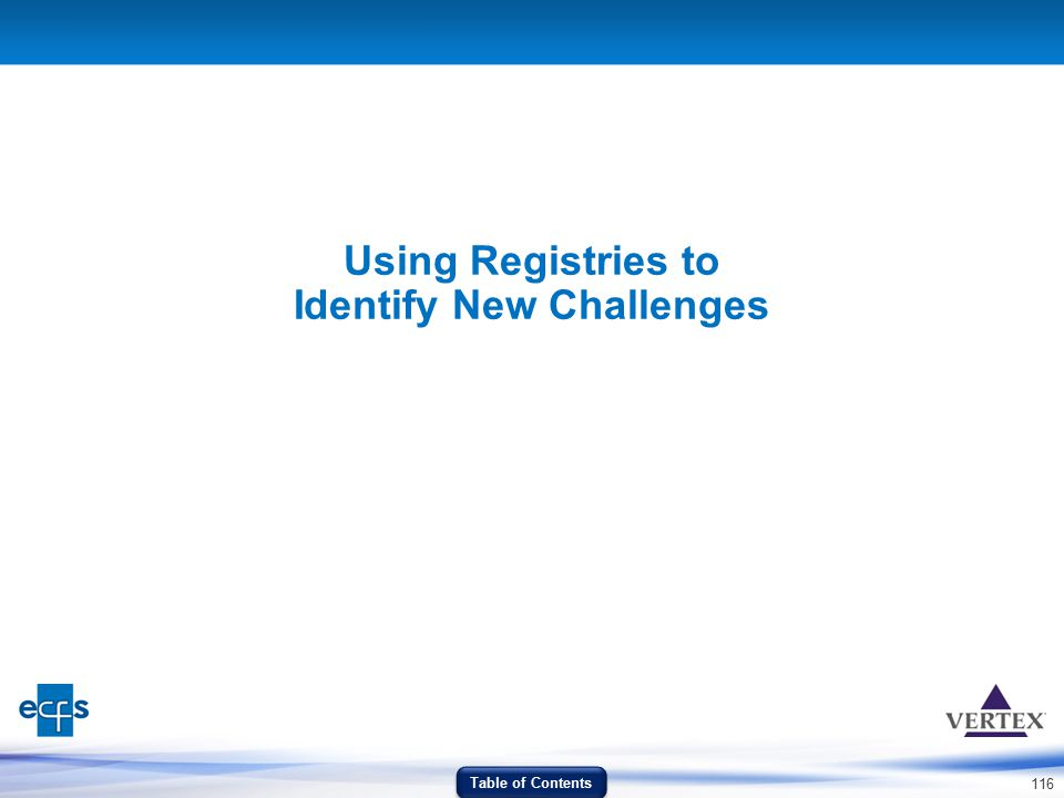 Using Registries to Identify New Challenges