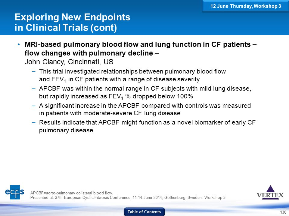 Exploring New Endpoints in Clinical Trials (cont)