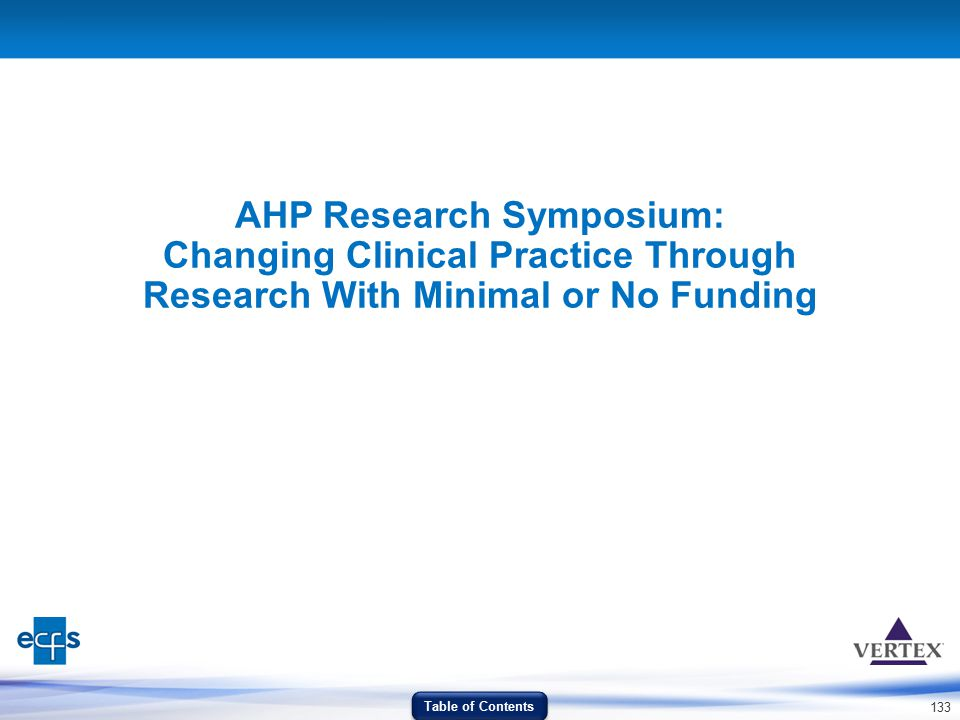 AHP Research Symposium: Changing Clinical Practice Through Research With Minimal or No Funding