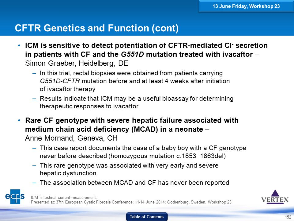 CFTR Genetics and Function (cont)