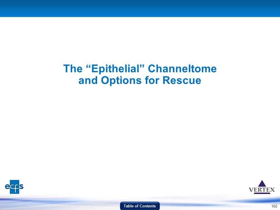 The Epithelial Channeltome and Options for Rescue