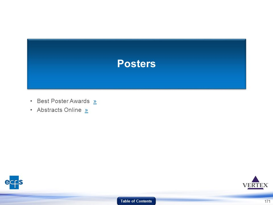 Best Poster Awards » Abstracts Online »