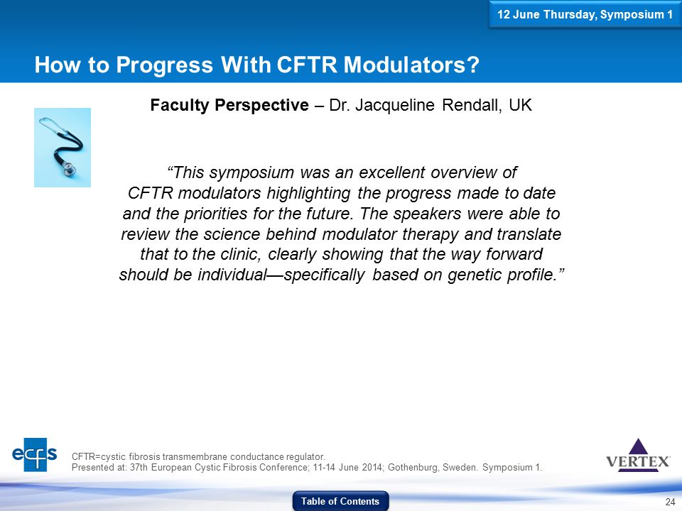How to Progress With CFTR Modulators