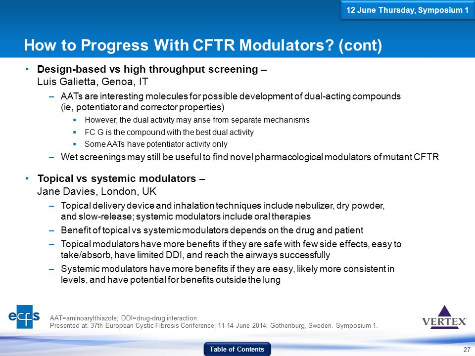 How to Progress With CFTR Modulators (cont)