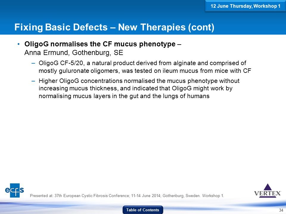 Fixing Basic Defects – New Therapies (cont)