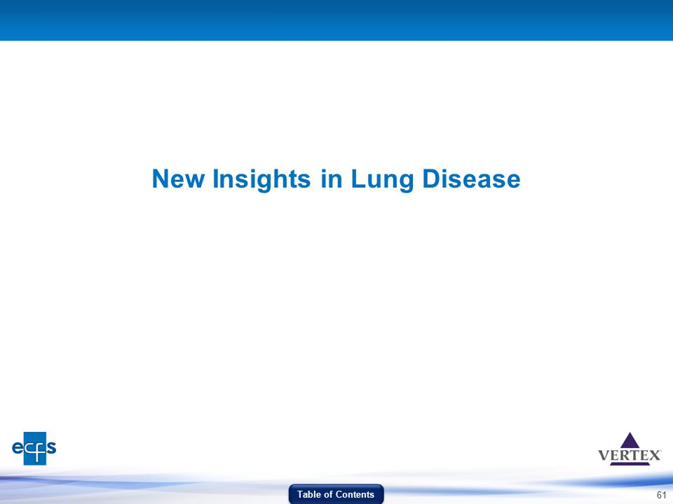 New Insights in Lung Disease