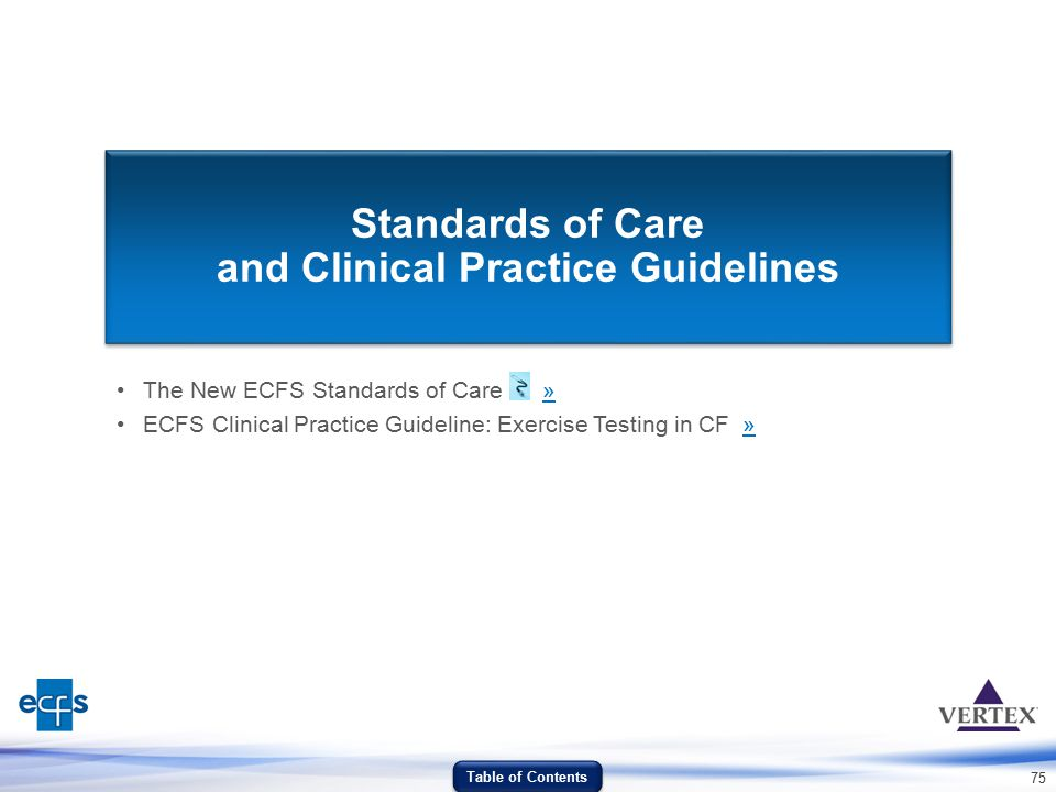 Standards of Care and Clinical Practice Guidelines