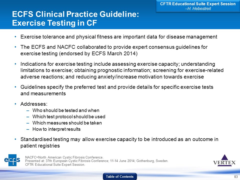 ECFS Clinical Practice Guideline: Exercise Testing in CF
